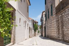 The croationa city stari grad Stock Photos