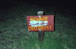 Croc-Gefahr, Kasane, Botswana lizenzfreies stockbild