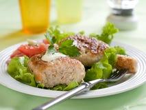 Crocchetta della carne o del pesce Fotografia Stock Libera da Diritti