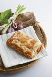 Crocchetta di pesce di gusto del curry immagini stock