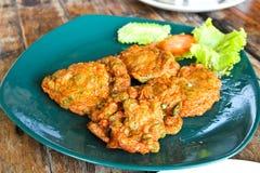 Crocchetta di pesce tailandese dell'alimento Fotografia Stock Libera da Diritti