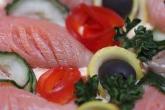Crocchetta di pesci con le verdure Immagine Stock Libera da Diritti