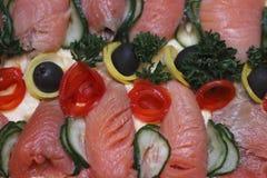 Crocchetta di pesci con le verdure Fotografie Stock
