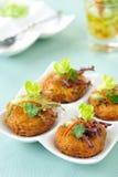 Crocchetta di pesci fritta alimento tailandese Immagine Stock
