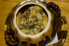 Crocchette al forno con i funghi Fotografie Stock