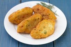 Crocchette del pesce fotografia stock