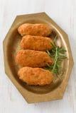 Crocchette del pesce sul piatto fotografia stock