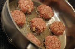 Crocchette della carne Immagini Stock Libere da Diritti