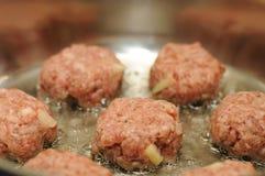 Crocchette della carne Fotografia Stock