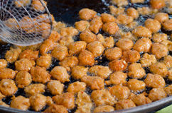 Crocchette di pesci fritte Fotografie Stock