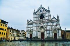 大教堂三塔Croce在佛罗伦萨,意大利 图库摄影