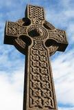 Croce celtica di pietra 4 Immagine Stock