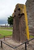 Croce celtica di pietra diritta Immagini Stock Libere da Diritti