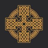 Croce celtica di vettore Ornamento etnico Stampa della maglietta Immagine Stock