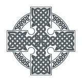 Croce celtica di vettore PR etnico della maglietta di progettazione geometrica dell'ornamento Fotografia Stock
