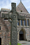 Croce celtica fuori Fotografia Stock