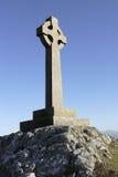 Croce celtica, isola Anglesey di Llanddwyn Fotografie Stock