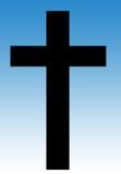 Croce in cielo blu Immagini Stock Libere da Diritti