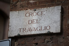 Croce del Travaglio in Siena Royalty Free Stock Photography