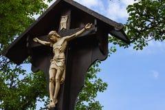 croce di Gesù sul bordo fotografia stock