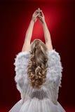 Croce di preghiera della tenuta di angelo Fotografia Stock Libera da Diritti