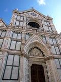 croce Florence Italie Santa d'église Images libres de droits