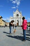 croce florence italy santa Royaltyfri Fotografi