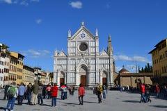 croce Florence Italy Santa fotografia stock