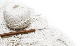 Crochê isolado no branco Fotografia de Stock Royalty Free