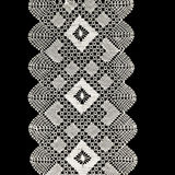 Crochet. White handmade lace isolated on black Stock Images