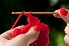 Crochet al detalle Fotografía de archivo libre de regalías
