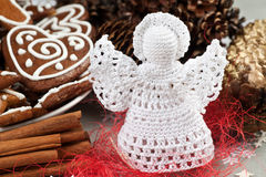 Crochet angel Stock Image
