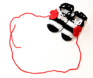 Crochet baby booties Royalty Free Stock Photos
