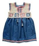 Crochet baby dress Stock Image