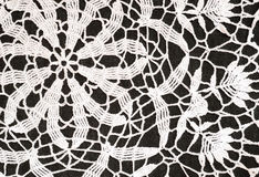 Crochet background. Background of white crochet lace Stock Images