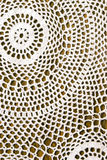 Crochet Background. Beautiful crochet tablecloth for background Stock Image