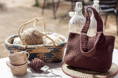 Crochet Bag Royalty Free Stock Images