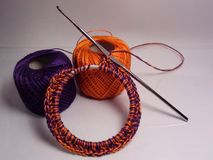 Crochet bangle Stock Image