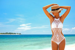Crochet bikini royalty free stock image
