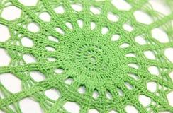 Crochet blanket. Isolated crochet blanket and white backround stock photo