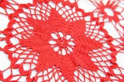 Crochet blanket. Isolated crochet blanket and white backround stock images