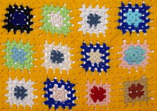 Crochet blanket. Texture on white background royalty free stock image