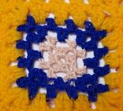 Crochet blanket window. One window of crochet blanket stock photo