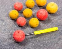 Crochet Boilies - haut étroit de carpe d'appât Image libre de droits