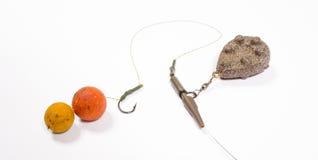 Crochet Boilies - haut étroit de carpe d'appât Photographie stock libre de droits