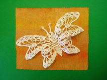 Crochet butterfly Stock Image