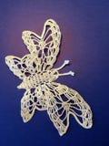 Crochet butterfly Stock Photo