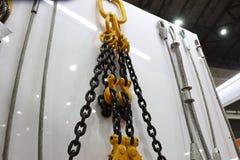 crochet, chaîne et fil d'acier photographie stock