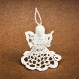 Crochet christmas angel, decorative product Stock Photography