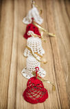 Crochet christmas bells Royalty Free Stock Images
